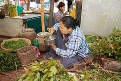 Markt Nyaung U, Bagan, Myanmar Stockfotos