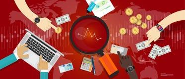 Markt onderaan voorraad à la baisse Stock Afbeeldingen
