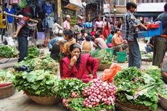Markt op de straat Stock Fotografie