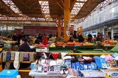 Markt op de straat van Sarajevo, bosnia Royalty-vrije Stock Foto's