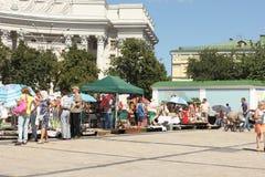 Markt op het Vierkant Stock Afbeeldingen