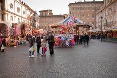 Markt op piazza Navona Royalty-vrije Stock Fotografie