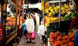 Markt in oud Tanger, Marokko royalty-vrije stock foto's