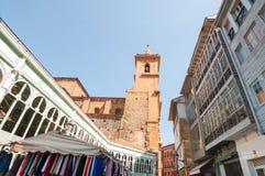 Markt Oviedo Fontan lizenzfreie stockfotografie