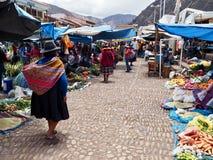 Markt in Pisac, Peru stockfoto