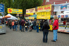 Markt Portlands Samstag Lizenzfreie Stockfotos