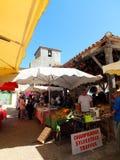 Markt in Pujols Lizenzfreies Stockbild