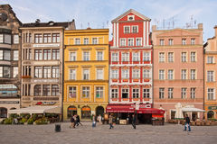 Markt-Quadrat - Hauptquadrat im Wroclaw, Polen Lizenzfreies Stockfoto