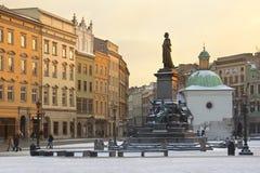 Markt-Quadrat (Rynek Glowny) - Krakau - Polen Stockfotografie