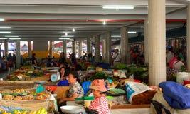 Markt, Serian, Borneo, Sarawak, Maleisië stock afbeelding