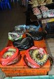 Markt, Serian, Borneo, Sarawak, Maleisië stock afbeeldingen