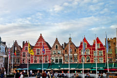 Markt Square Scene in Bruges Stock Photography