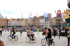 Markt square view Bruges Belgium Royalty Free Stock Photos