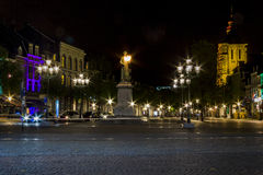 Markt squuare at midnight, Maastricht Royalty Free Stock Photography