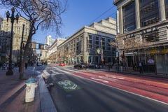 Markt-Straße San Francisco Weekend Morning Stockbilder