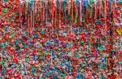 Markt-Theater-Gummi-Wand in Pike-Markt in Seattle stockfoto