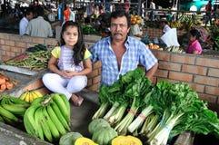 Markt in Timana - Colombia stock afbeeldingen