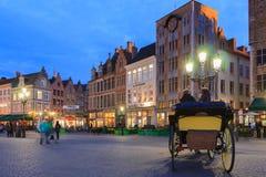 Markt van Brugge, België Stock Afbeelding