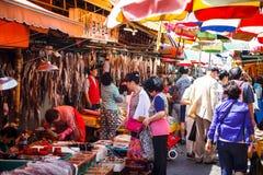 Markt van Jagalchi de Openluchtvissen, Busan, Korea Royalty-vrije Stock Afbeeldingen