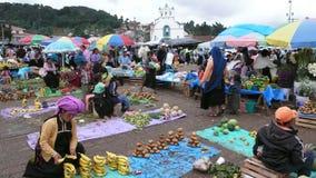 Markt van San Juan Chamula in Mexico stock afbeeldingen