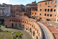 Markt van Trajan in Rome Royalty-vrije Stock Foto's