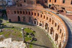 Markt van Trajan in Rome Stock Afbeeldingen