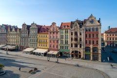 Markt Vierkante Rynek in Wroclaw, Polen royalty-vrije stock afbeeldingen
