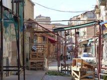 Markt von BallarÃ-² am Ende des Marktes, der älteste Markt von Palermo sizilien Italien stockfotografie