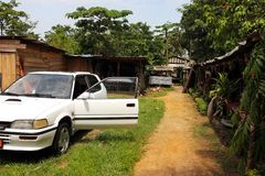 Markt von Handwerkkünsten, Douala, Cameroun Lizenzfreies Stockfoto