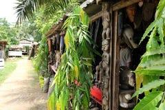 Markt von Handwerkkünsten, Douala, Cameroun Stockbilder