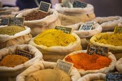 Markt würzt Provence Frankreich stockfotos