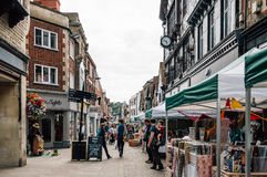 Markt in Winchester stockfoto