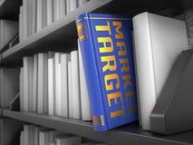 Markt-Ziel - Titel des Buches Lizenzfreies Stockbild