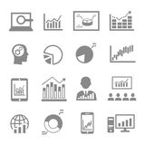 Marktanalyse, Diagrammikonen Lizenzfreie Stockfotos