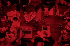 Marktanalyse erklärender Team Business Meeting Concept Stockbild