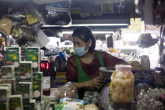 Marktarbeider in Chiang Mai, Thailand Royalty-vrije Stock Foto's