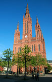 Marktchurch in Wiesbaden Royalty Free Stock Images