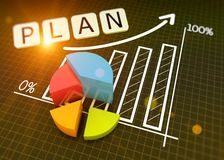 Marktdiagrammkonzept stockfotografie