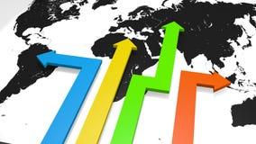 Marktdiversificatie en globalisering stock illustratie