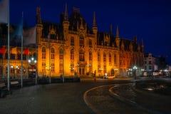 Markten av Bruges, Belgien Arkivbild