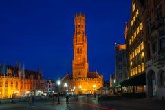 Markten av Bruges, Belgien Royaltyfri Fotografi
