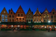Markten av Bruges, Belgien Arkivbilder