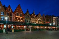 Markten av Bruges, Belgien Royaltyfri Bild