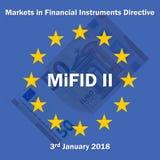 Markten in Financiële Instrumentenrichtlijn vector illustratie