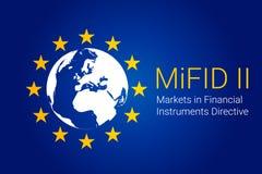 Markten in Financiële Instrumentenrichtlijn - MiFID II Vector royalty-vrije illustratie