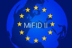 Markten in Financiële Instrumentenrichtlijn - MiFID II Vector stock illustratie