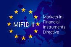 Markten in Financiële Instrumentenrichtlijn - MiFID II Vector vector illustratie