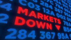 Markten onderaan concept stock afbeeldingen