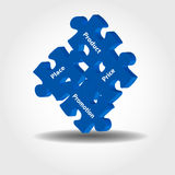 Markteting puzzle pieces Royalty Free Stock Photos