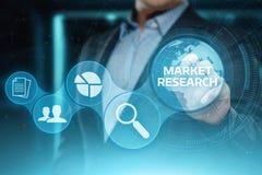 Marktforschungs-Marketingstrategie-Geschäfts-Technologie-Internet-Konzept stockfotografie